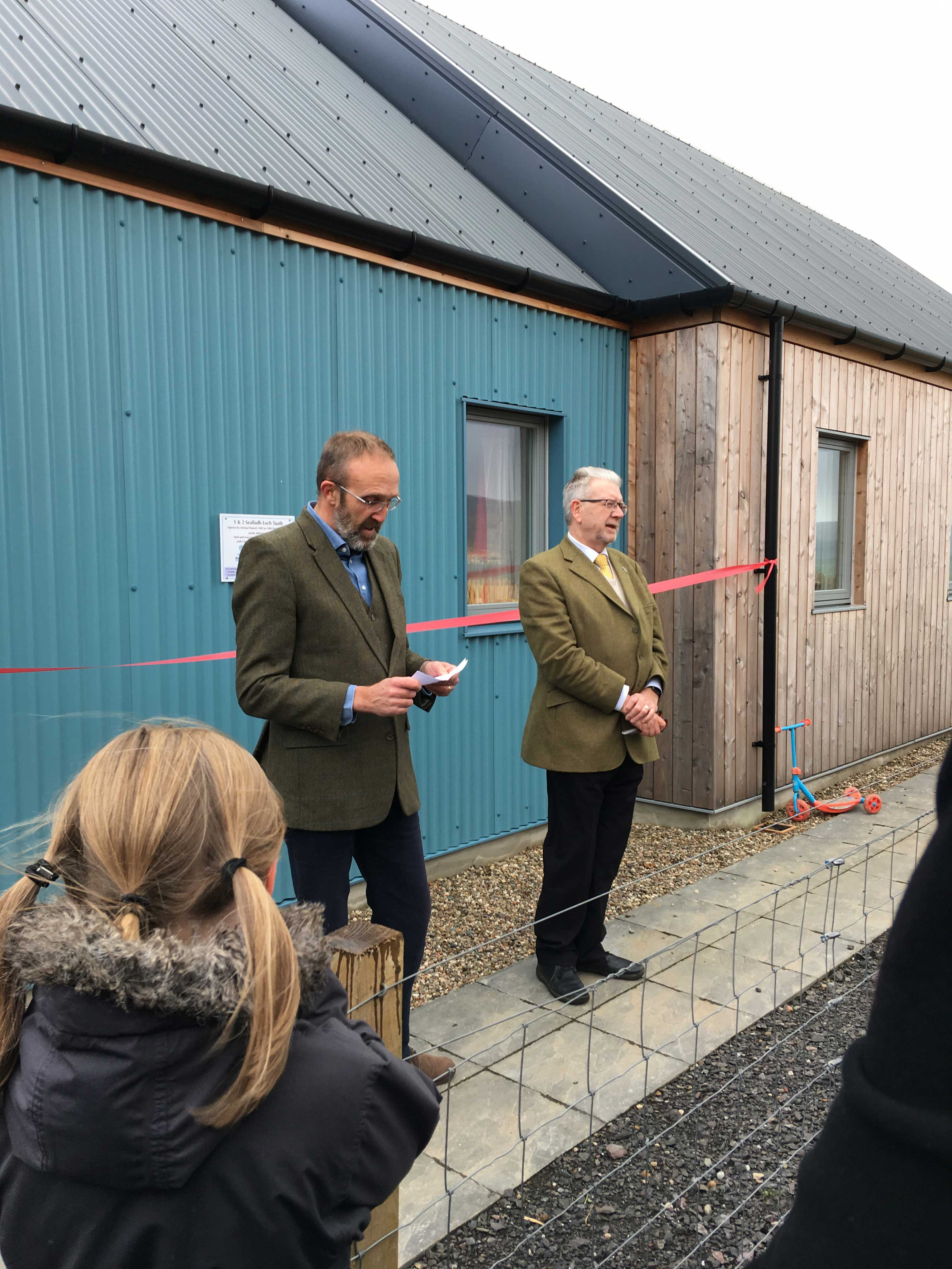Ulva Ferry Houses officially opened by MSP Mike Russell.